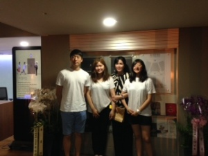 'Justice for comfort women' members and the main choreographer of the performance,Jung-hoon Ahn